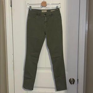 Pacsun green stretch jeans